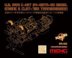 U.S.M911 C-HET 8V-92TA-90 Diesel Engine & CLBT-750 Transmission(resin)