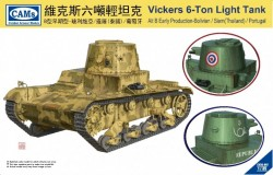 Vickers 6-Ton Light Tank Alt B Early Production-Welded Turret Bolivian/Thailand/Portugal