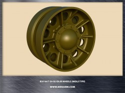 T-34/SU Idler wheels without have the rim