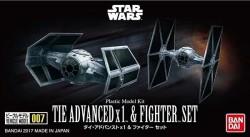 Bandai Vehicle Model 007: Tie Advanced x 1™ & Fighter™ Set