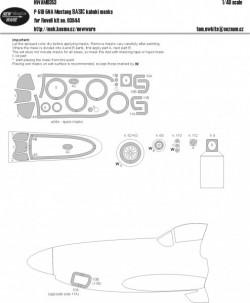 P-51D-5NA Mustang BASIC kabuki masks