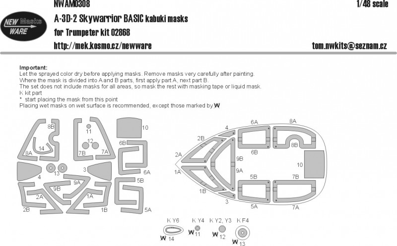 A-3D-2 Skywarrior BASIC kabuki masks