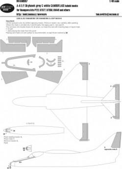 A-4 E/F/K Skyhawk GREY&WHITE CAMOUFLAGE kabuki masks