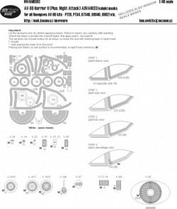 AV-8B Harrier II (Plus, Night Attack) ADVANCED kabuki masks