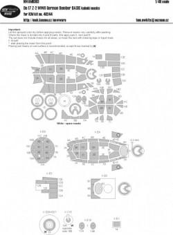 Do 17 Z-2 WWII German bomber BASIC kabuki masks