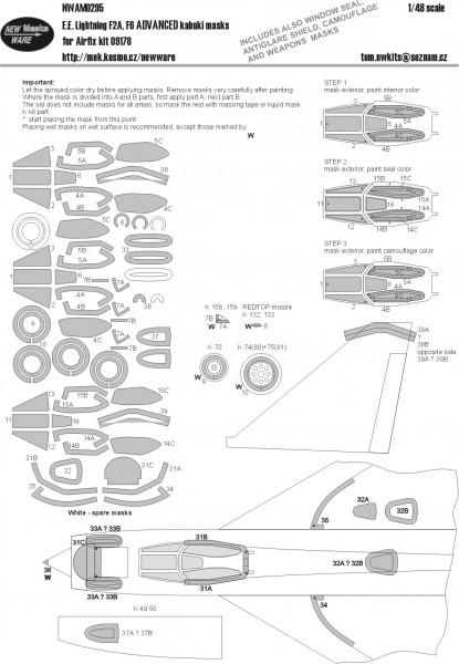E.E. Lightning F2A, F6 ADVANCED kabuki masks