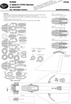 E.E. Lightning F2A, F6 EXPERT kabuki masks