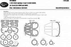 EE (BAC) Linghtning T.4 and T.5 BASIC MASKS