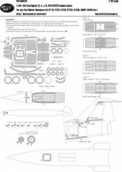F-104 Starfighter (C, G, J, S) ADVANCED kabuki masks