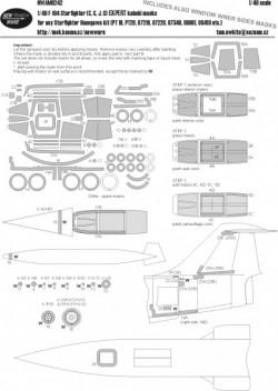 F-104 Starfighter (C, G, J, S) EXPERT kabuki masks