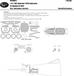 F-105D Thunderchief BASIC kabuki masks