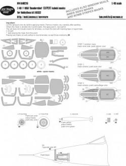F-105D Thunderchief EXPERT kabuki masks