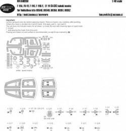 F-111A, FB-111A, F-111C, F-111D/E, EF-111 BASIC kabuki masks