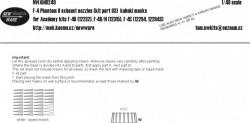 F-4 Phantom II exhaust nozzles (kit part O3) kabuki masks for Academy F-4B, B/N, C
