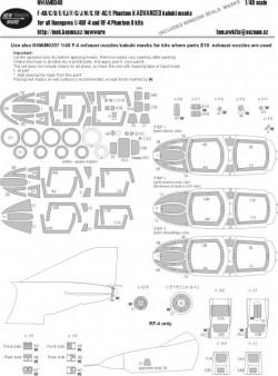 F-4B/C/D/E/EJ/F/G/J/N/S, RF-4C/4E Phantom II ADVANCED kabuki masks