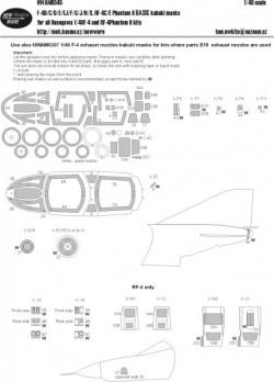 F-4B/C/D/E/EJ/F/G/J/N/S, RF-4C/4E Phantom II BASIC kabuki masks