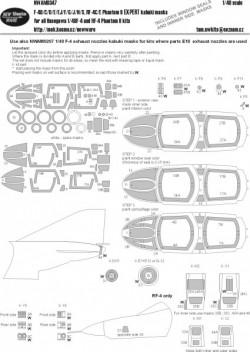 F-4B/C/D/E/EJ/F/G/J/N/S, RF-4C/4E Phantom II EXPERT kabuki masks