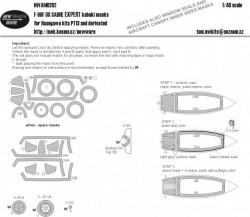 F-86F-30 Sabre EXPERT kabuki masks