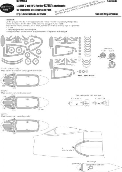 F9F-2 and F9F-3 Panther EXPERT kabuki masks