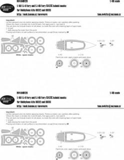 FJ-4 and FJ-4B Fury BASIC kabuki masks