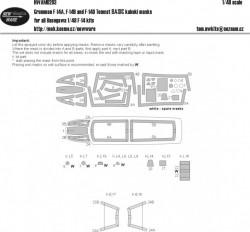 Grumman F-14A/B/D Tomcat BASIC kabuki masks