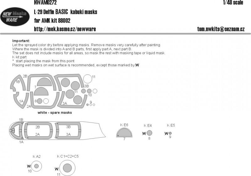 L-29 Delfin BASIC kabuki masks