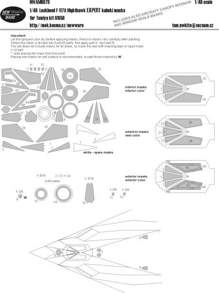 Lockheed F-117A Nighthawk EXPERT masks