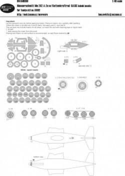 Messerschmitt Me 262 A-2a w/Kettenkraftrad BASIC kabuki masks