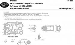 MiG-21F-13 Fishbed and J-7A Fighter BASIC kabuki masks