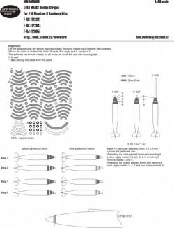 Mk.82 bombs stripes for F-4 Phantom II kits