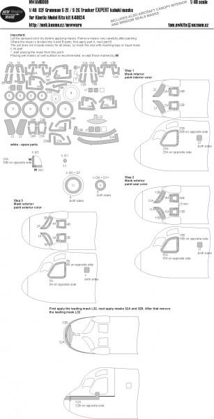 S2F Grumman S-2E / S-2G Tracker EXPERT kabuki masks