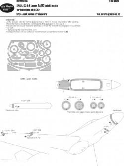 Saab J-32 B/E Lansen BASIC kabuki masks