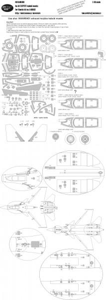 Su-33 EXPERT kabuki masks