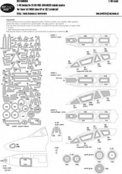 Suchoj Su-25 UB/UBK ADVANCED masks