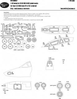 Suchoj Su-25 UB/UBK BASIC masks