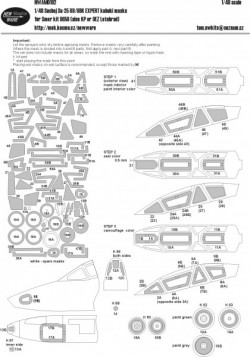 Suchoj Su-25 UB/UBK EXPERT kabuki masks