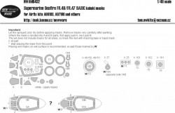 Supermarine Seafire FR.46/FR.47 BASIC kabuki masks