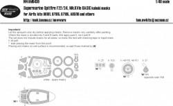 Supermarine Spitfire F22/F24, MkXVIe BASIC kabuki masks