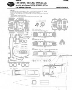 TF-104G, F-104D, F-104DJ Starfighter EXPERT kabuki masks