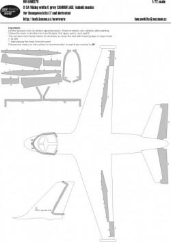 S-3A Viking white & grey CAMOUFLAGE kabuki masks