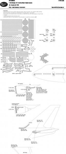 Boeing 747-8 Civil Airliner masks