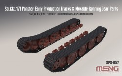 German Medium Tank Sd.Kfz.171 PantherEar Production Tracks&Movable Running Gear Parts