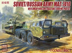 Soviet/Russian Army MAZ-7410 with ChMZAP-9990 semi-trailer and T-80BV mbt pack set