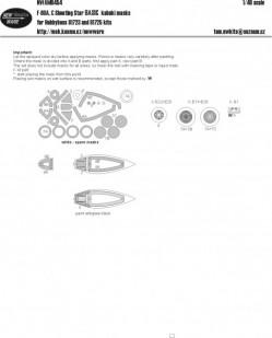 F-80 A, C Shooting Star BASIC kabuki masks