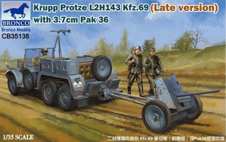 Krupp Protze L 2 H 143 Kfz.69(Late versi +3.7cm Pak 36