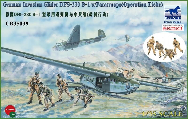 German Tactical Assault Glider DFS 230 B-1 w/Fallschirmjäger (4 Figures)