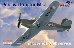 Percival Proctor Mk.1 marking of Czechoslovakia