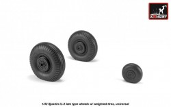 Iljushin IL-2 Bark (late) wheels w/ weighted tires