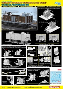 GERMAN RAILWAY GONDOLA w/2cm FLAKVIERLING 38