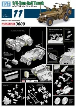 IDF 1/4-Ton 4x4 Truck w/MG34 Machine Guns